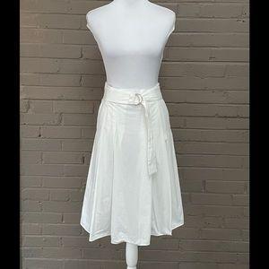 Zara white  cotton full skirt  S